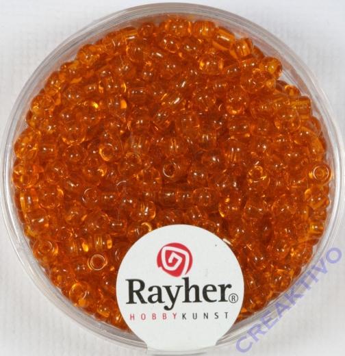 Rocailles 2,6mm ø transparent orange