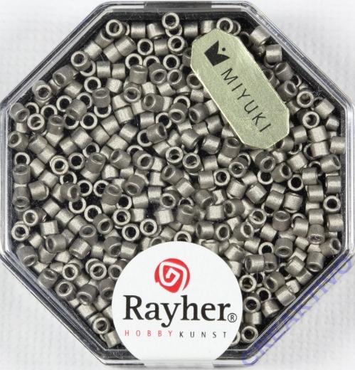 Delica-Rocailles, 2,2 mm ø metallic matt, stahlgrau