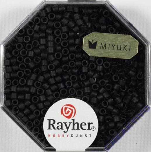 Delica-Rocailles, 2,2 mm ø metallic matt, schwarz