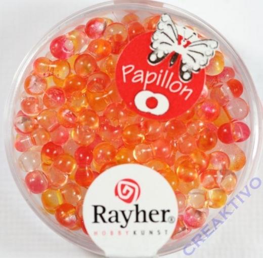 Papillon Rocailles Two Tone 3,2 x 6,5mm koralle