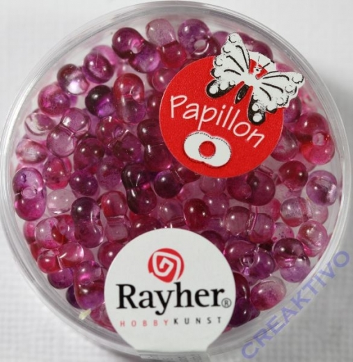 Papillon Rocailles Two Tone 3,2 x 6,5mm pink