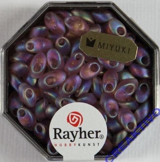 Magatama Perlen 4x7mm transp. frost Rainbow amethyst