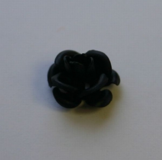 Behang Rose schwarz ca. 7mm