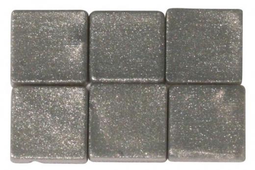 Acryl-Mosaik, 1x1 cm, metallic, brill.silber