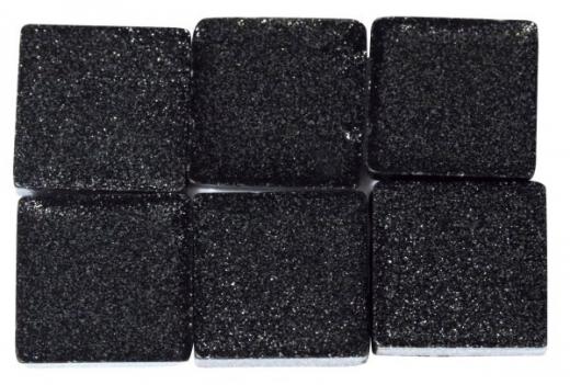 Acryl-Mosaik, 1x1 cm, metallic, obsidian