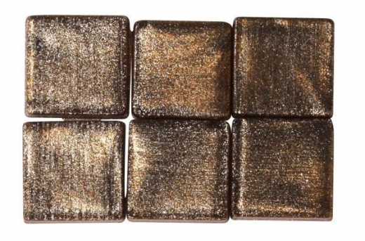 Acryl-Mosaik, 1x1 cm, metallic, sienna natur