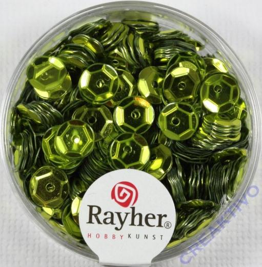 Pailletten, 6 mm gewölbt, oliv