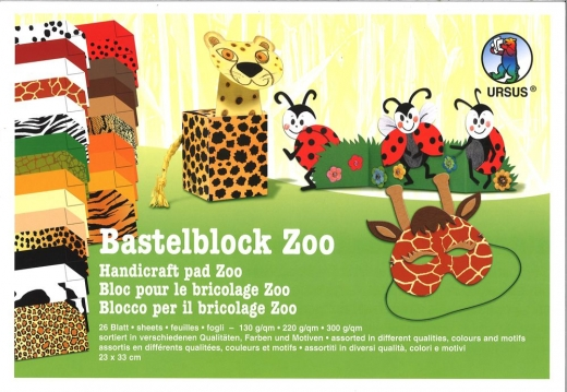 Zoo Bastelblock 23x33cm 26 Blatt