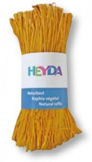 Naturbast, farbig 50g dottergelb