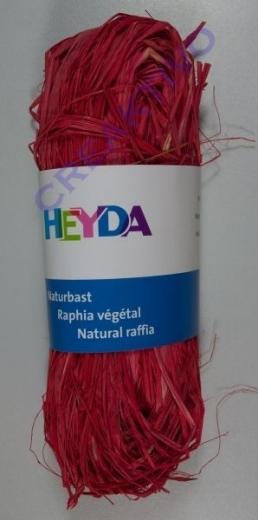 Naturbast, farbig 50g rot