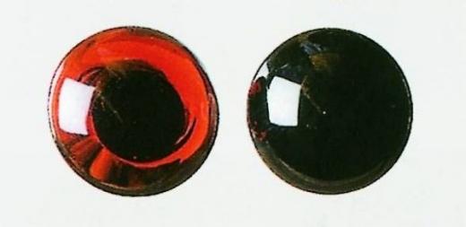 Augen aus Glas mit Öse 16mm schwarz 2 Stück