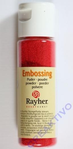 Embossing-Puder 20ml klassikrot, deckend