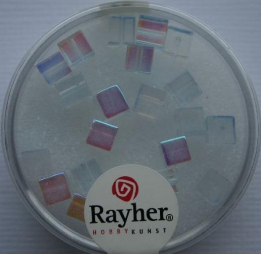 Rayher Glas-Schliffwürfel 4mm 20 St. aquamarin
