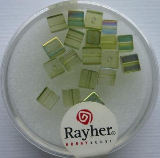 Rayher Glas-Schliffwürfel 4mm 20 St. olive