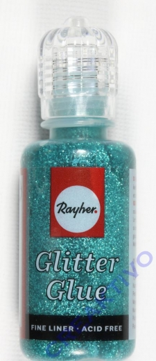 Glitter Glue metallic 20ml türkis
