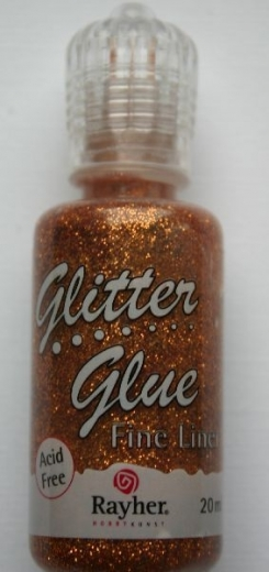 Glitter Glue metallic 20ml brill.kupfer