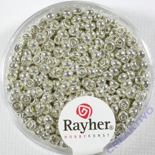 Rayher Rocailles 2,6mm perlmutt silber