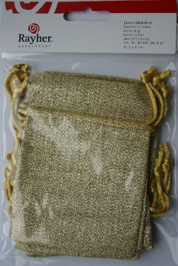 Lurex-Säckchen gold 6 Stück
