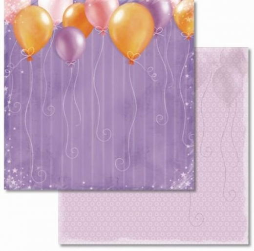 Premium Glitter Scrapbook paper Geburtstag 02