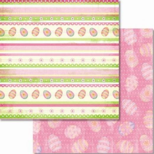 Premium Glitter Scrapbook paper Ostern 18