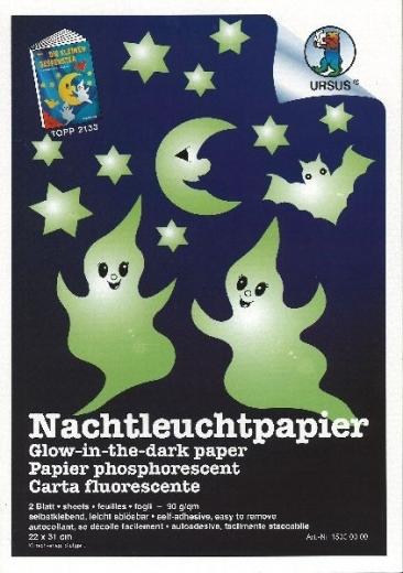 Nachtleuchtpapier 2 Blatt