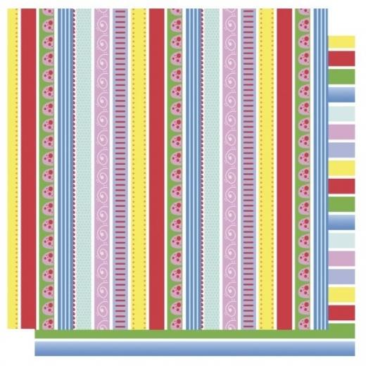 Scrapbooking Papier Streifen-Mix (Restbestand)