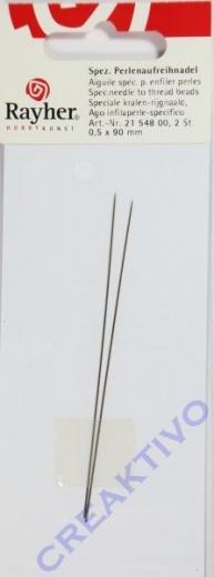 Rayher Spezial Perlenaufreihnadeln 2 Stück 90mm