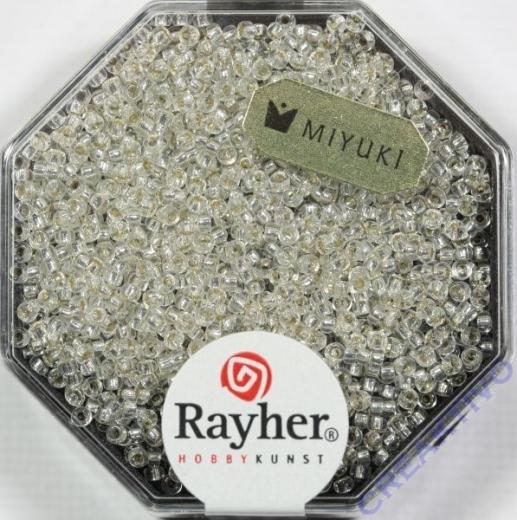 Premium Rocailles mit Silbereinzug 1,5mm bergkristall