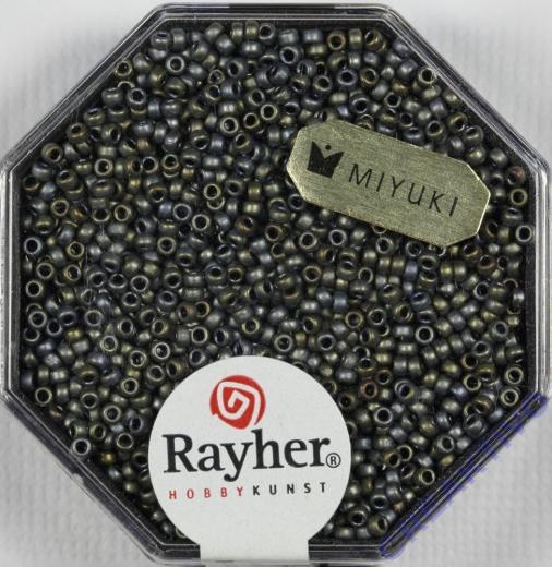 Premium Rocailles metallic gefrostet 1,5mm rauch topas