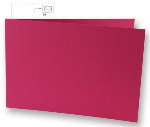 Karte B6 quer 232x168mm 220g pink