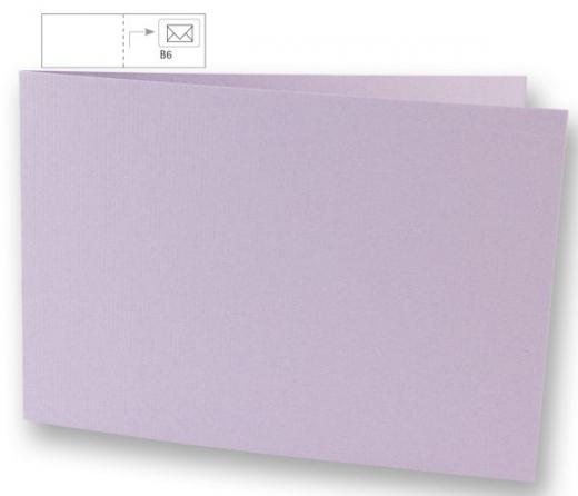 Karte B6 quer 232x168mm 220g lavendel (Restbestand)