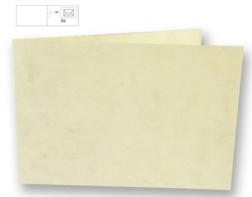 Karte B6 quer 232x168mm 200g marmor beige (Restbestand)