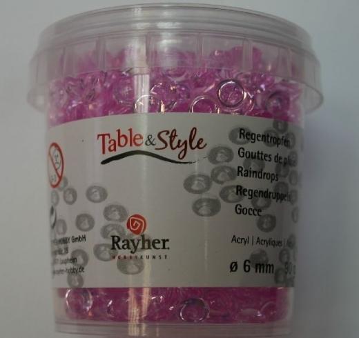 Acryl-Regentropfen 6mm Dose 90g rosé