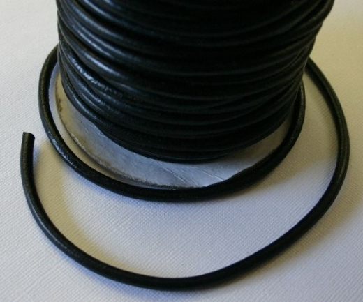 Lederband 4mm schwarz je 10cm