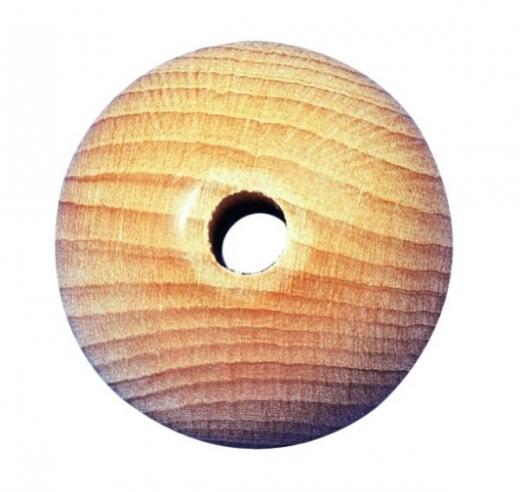 Rohholzkugel durchgebohrt 30mm 6mm Bohrung