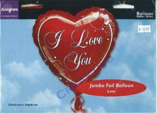 Folienballon I Love You 81cm