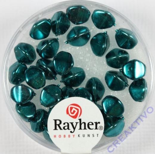 Rayher Glasperle Dreikant 7mm ind.türkis