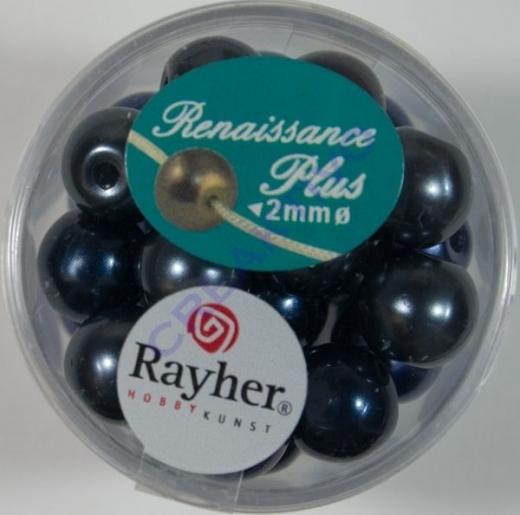 Renaissance Glaswachsperlen Großloch 10mm blau Mix