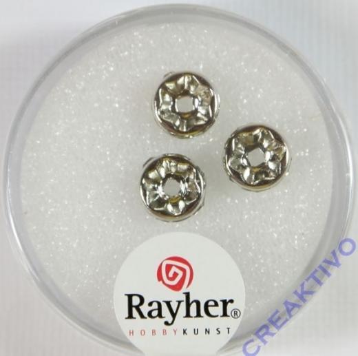 Strass-Rondelle mit Kristallsteinen 8mm platin