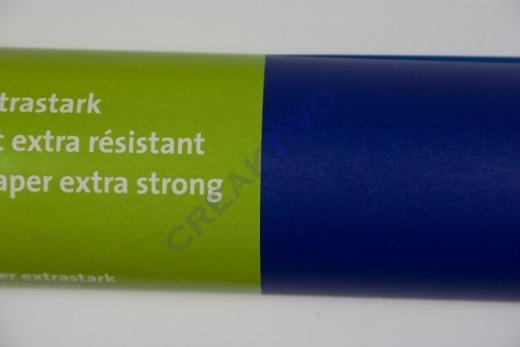 Transparentpapier extra stark Rolle 50x70cm blau