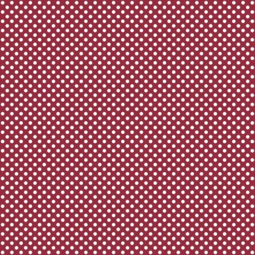 Serie Lush Red - Red Medium Polka Dots (Restbestand)