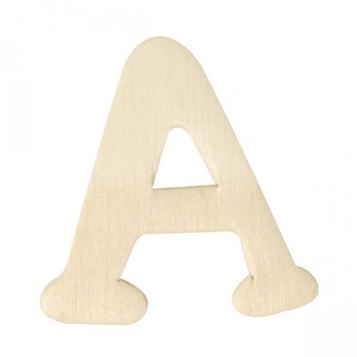 Holz-Buchstabe 4cm A