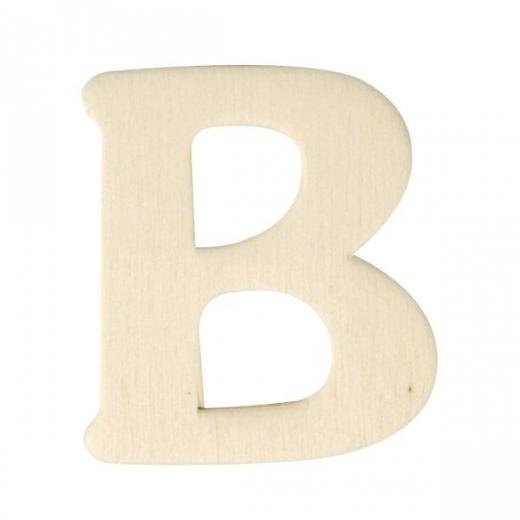 Holz-Buchstabe 4cm B