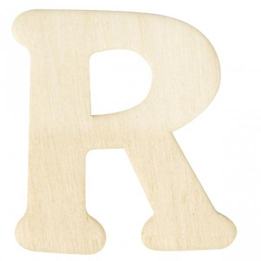 Holz-Buchstabe 4cm R