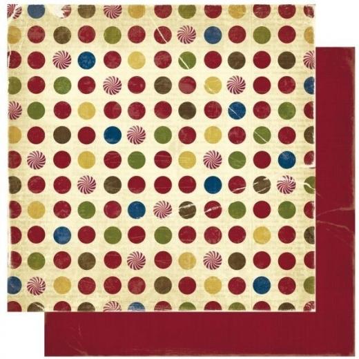 Scrapbooking Papier Noel Dot (Restbestand)
