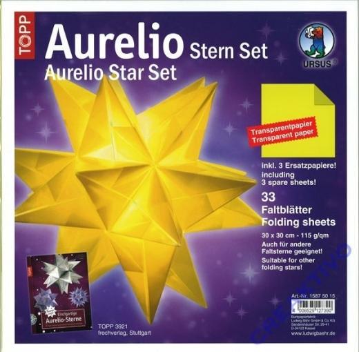 Aurelio Stern Set 30x30cm transparent gelb