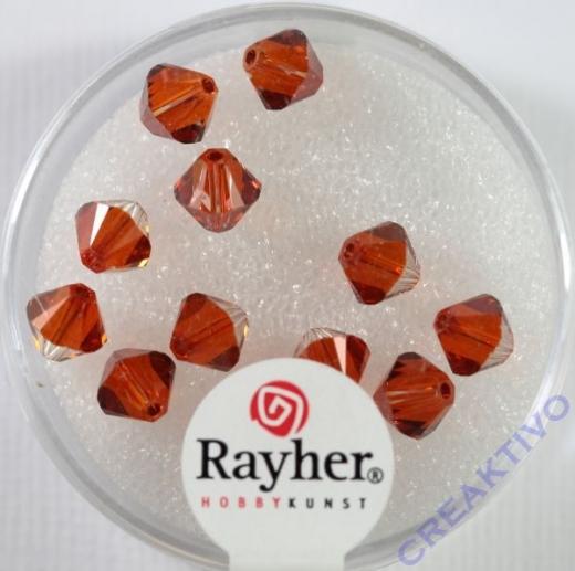 Swarovski Kristall-Schliffperlen 6mm 12St red magma (Restbestand)