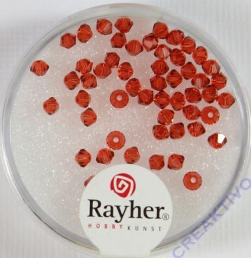 Rayher Swarovski Kristall-Schliffperlen 3mm orangerot