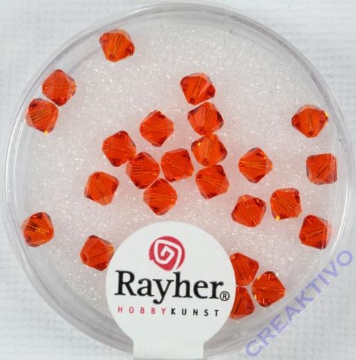 Swarovski Kristall-Schliffperlen 4mm 25St capriorange (Restbestand)