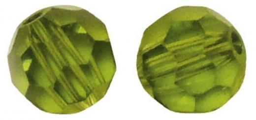 Swarovski Kristall-Perlen 6mm 12St olive